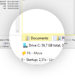 Tabs in WinNc; Norton Commander filemanager