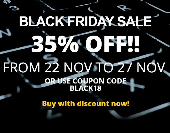 35% off Black Friday Sale sale for WinNc 8.4.0.0 now available